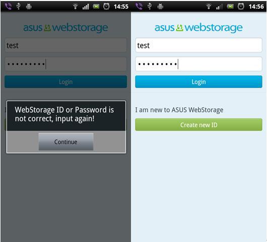 登出ASUS WebStoage